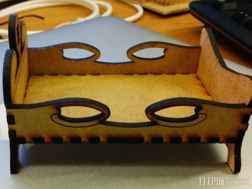 迷你公主床模型 3D打印模型渲染图