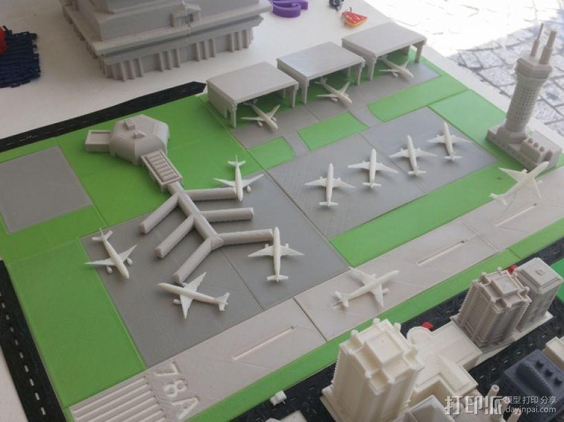 3D打印迷你飞机场模型 3D打印模型渲染图