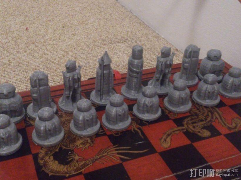 国际象棋棋子 3D打印模型渲染图