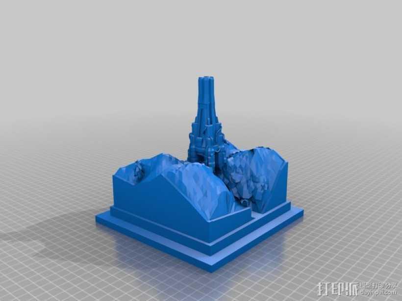 游戏《虚幻竞技场2004》中Torlan塔模型 3D打印模型渲染图