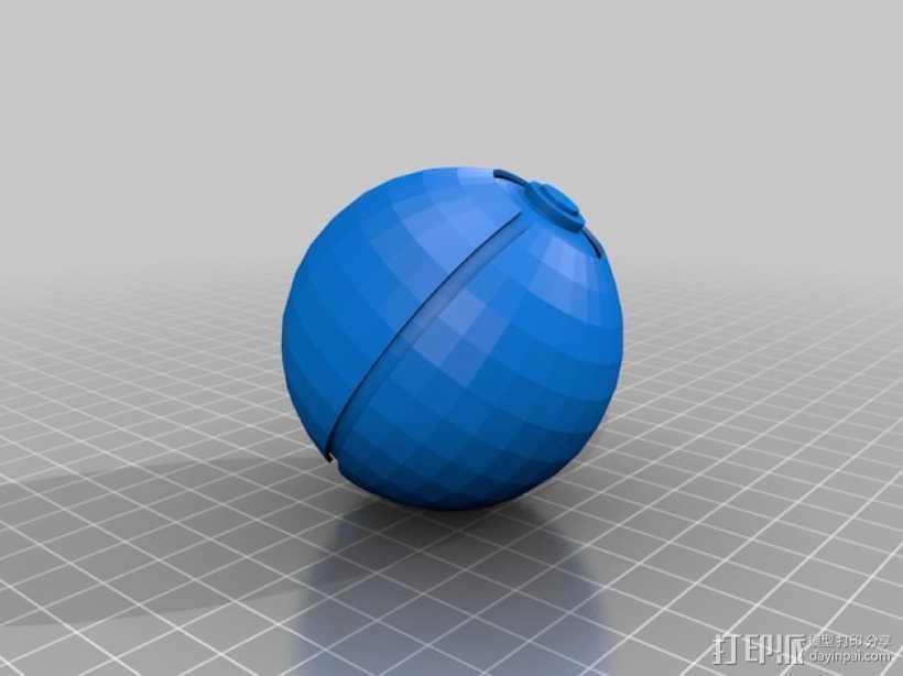 神奇宝贝球模型 3D打印模型渲染图