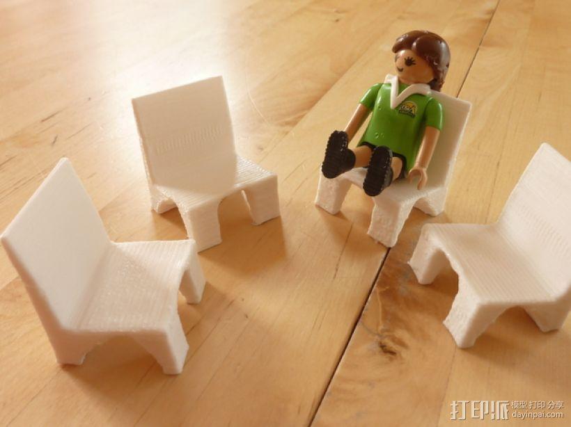 Playmobil玩具椅模型 3D打印模型渲染图