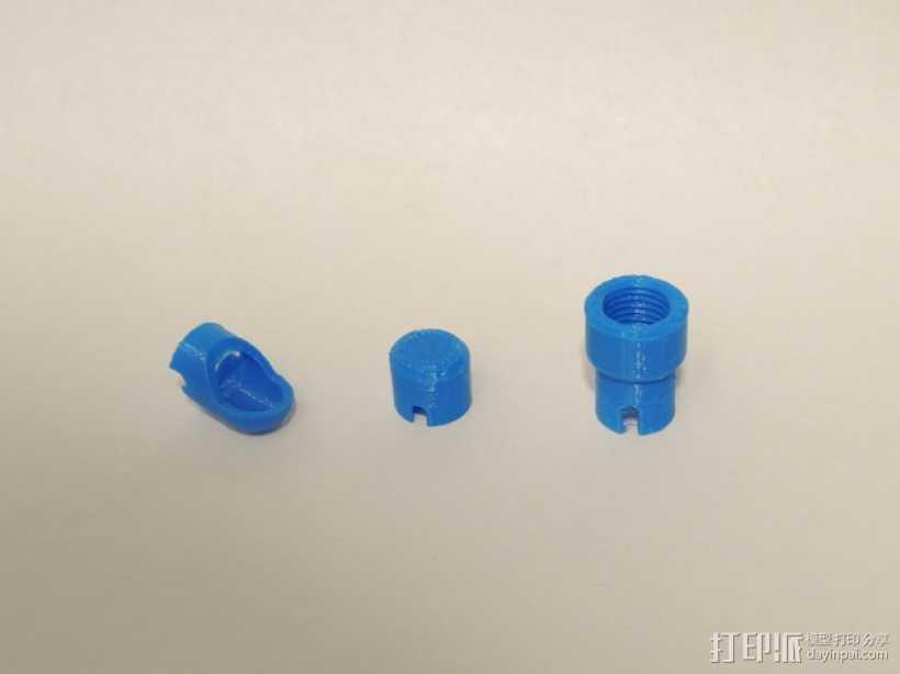 节流阀端盖模型 3D打印模型渲染图