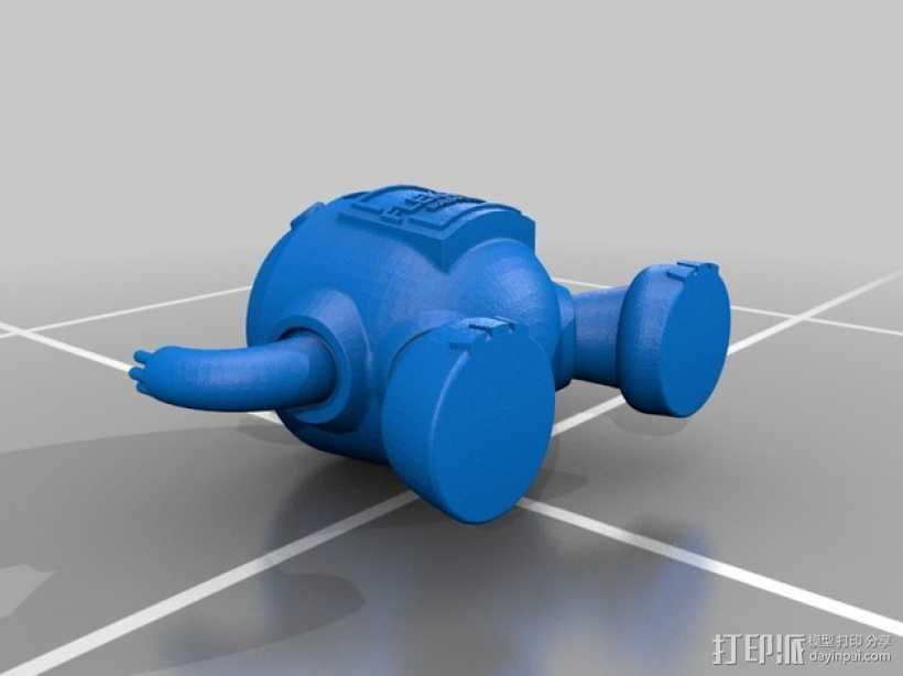 迷你机器人模型 3D打印模型渲染图