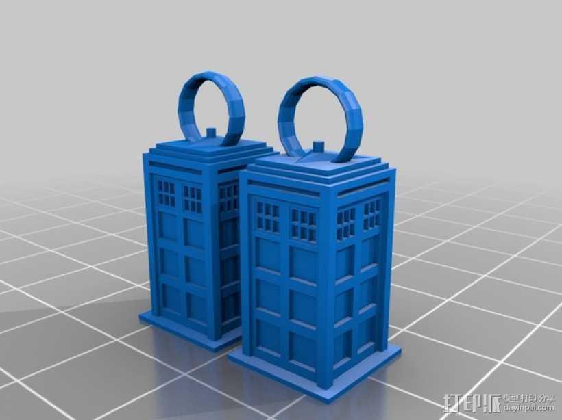 耳环模型 3D打印模型渲染图