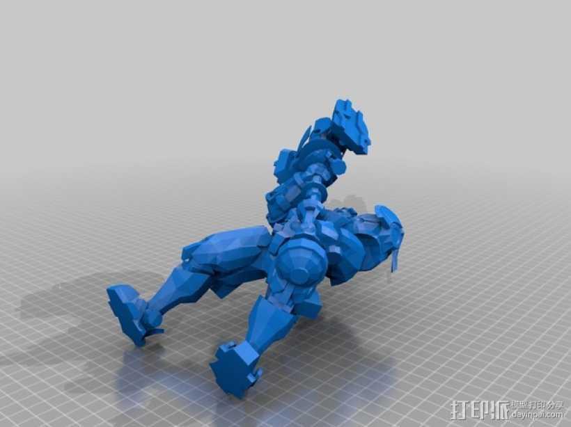 带有金属外壳的杰斯模型 3D打印模型渲染图