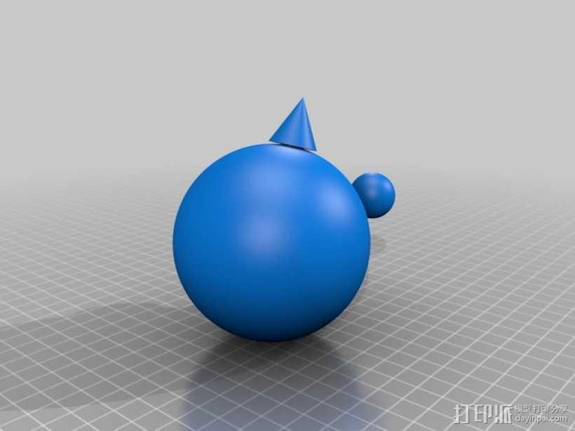 迷你球模型 3D打印模型渲染图