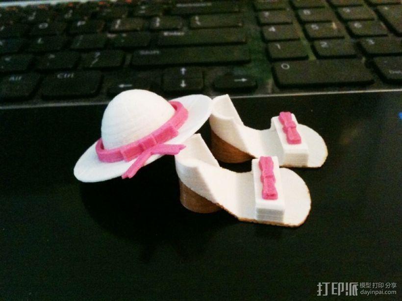 迷你鞋帽 3D打印模型渲染图