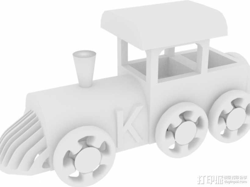 玩具火车头 3D打印模型渲染图