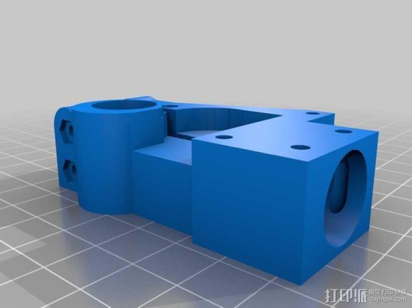 迷你挤出机1.75版 3D打印模型渲染图