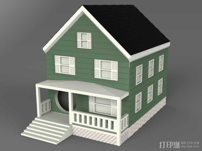 农舍型鸟巢 3D打印模型渲染图