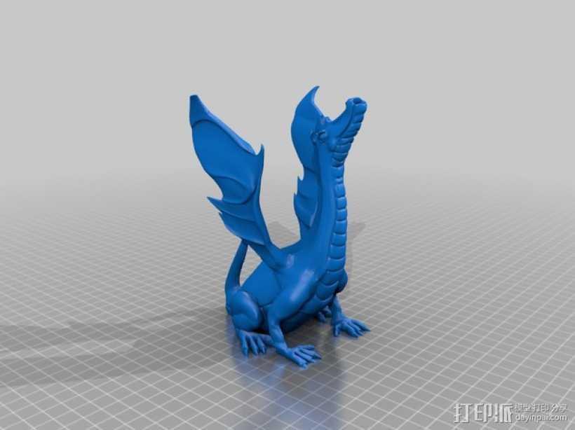唱歌的恐龙 3D打印模型渲染图