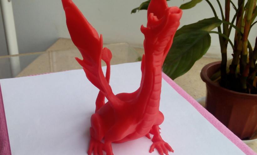 火龙 3D打印实物照片