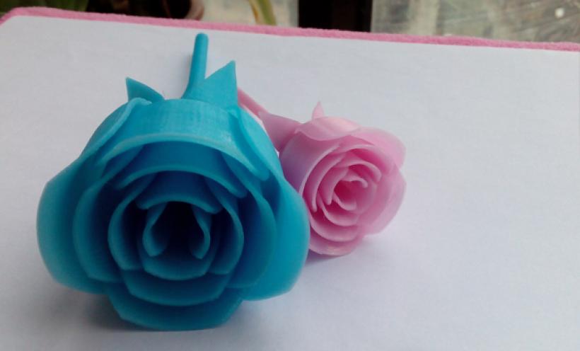玫瑰花 3D打印实物照片