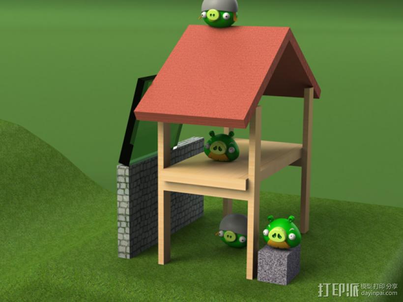 坏猪猪 3D打印模型渲染图