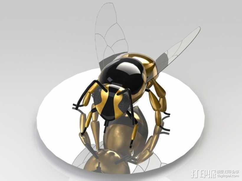 黄蜂 3D打印模型渲染图