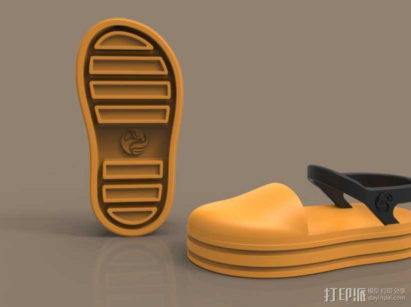 儿童鞋子 3D打印模型渲染图