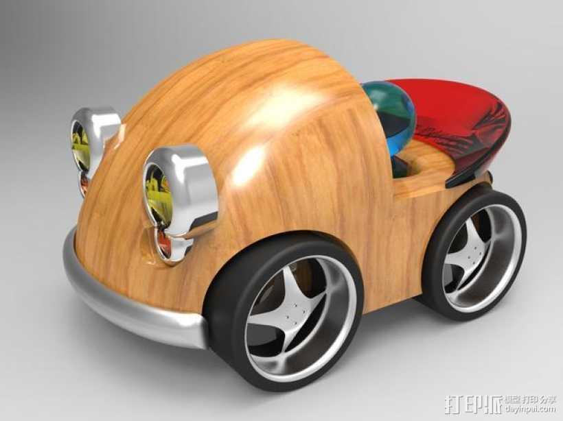 我的玩具汽车BRO1977 # 001 3D打印模型渲染图