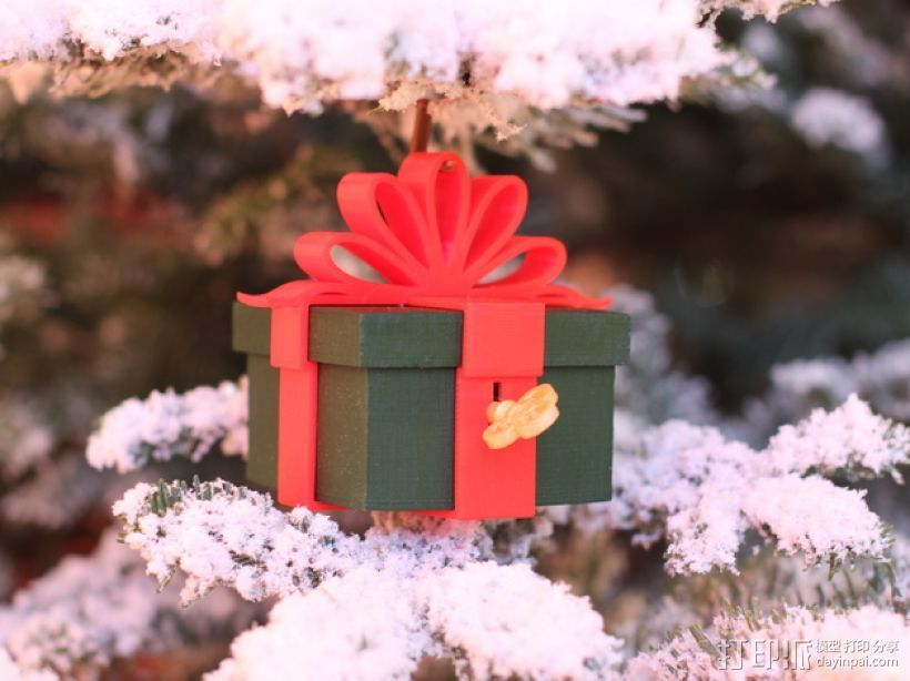 可上锁的礼物盒 3D打印模型渲染图