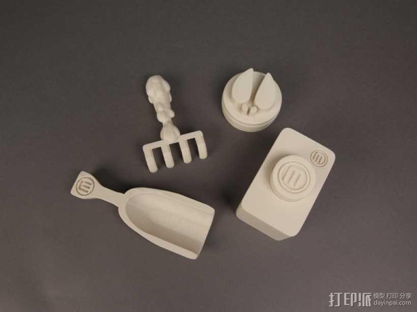 雪雕套件 3D打印模型渲染图