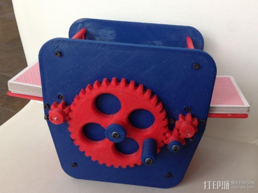 手动洗牌装置 3D打印模型渲染图