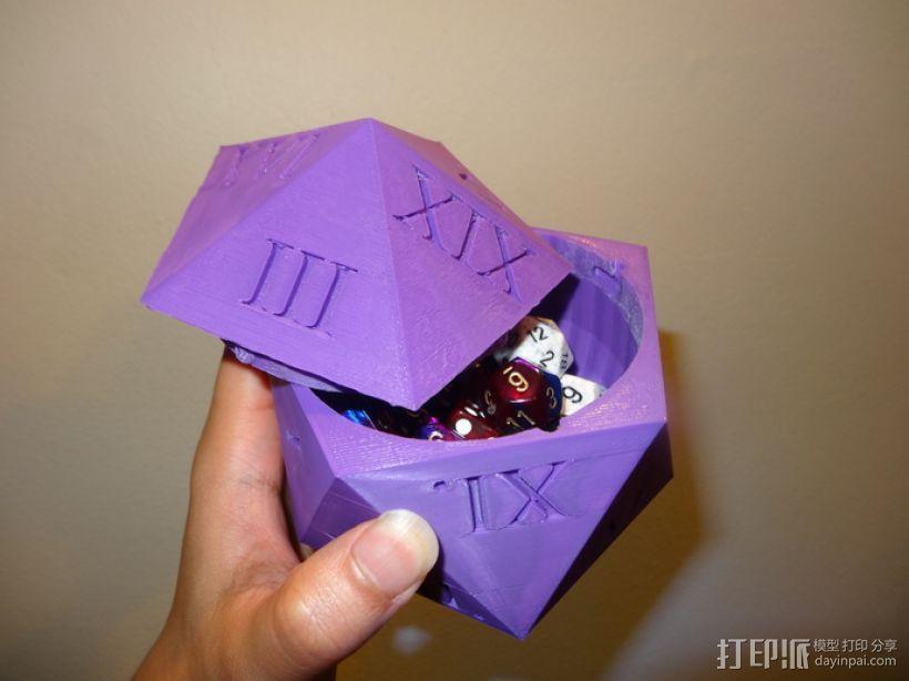 多面体骰子收纳盒 3D打印模型渲染图