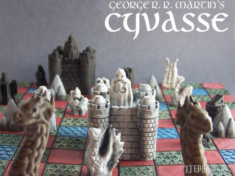 Cyvasse锡瓦斯棋(非官方游戏) 3D打印模型渲染图