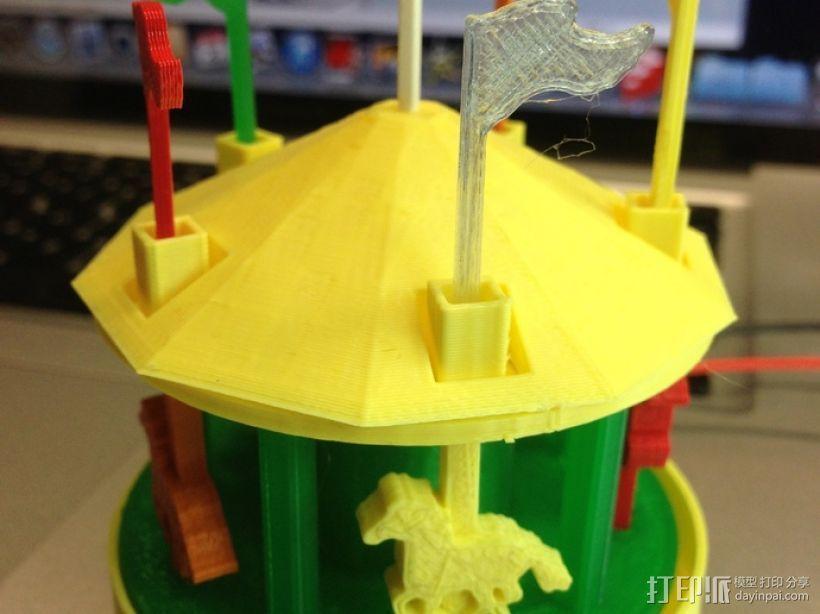 旋转木马 3D打印模型渲染图