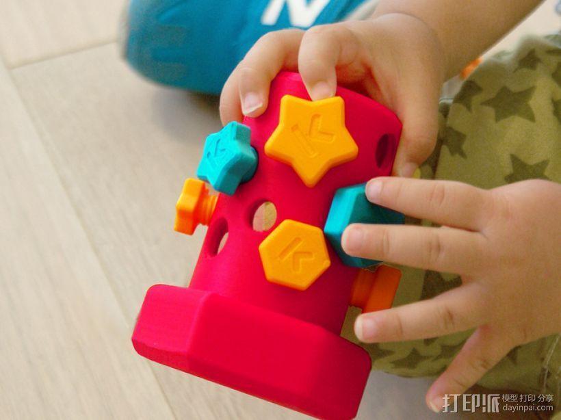 玩具螺钉 3D打印模型渲染图