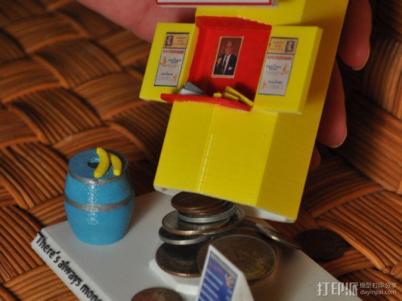 香蕉造型的存钱罐 3D打印模型渲染图