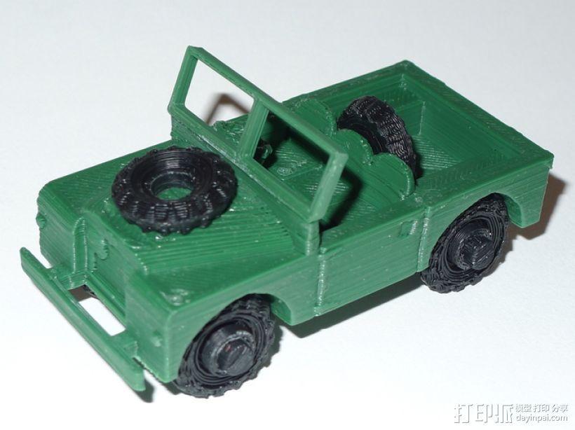 1948 路虎汽车SWB 3D打印模型渲染图