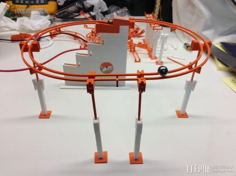 滚珠滑道模型Marblevator 3D打印模型渲染图