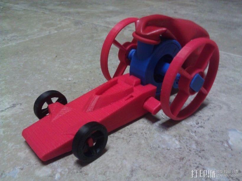 涡轮驱动的小汽车 3D打印模型渲染图