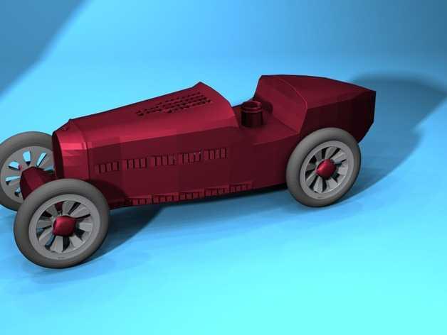 布加迪风格汽车 3D打印模型渲染图