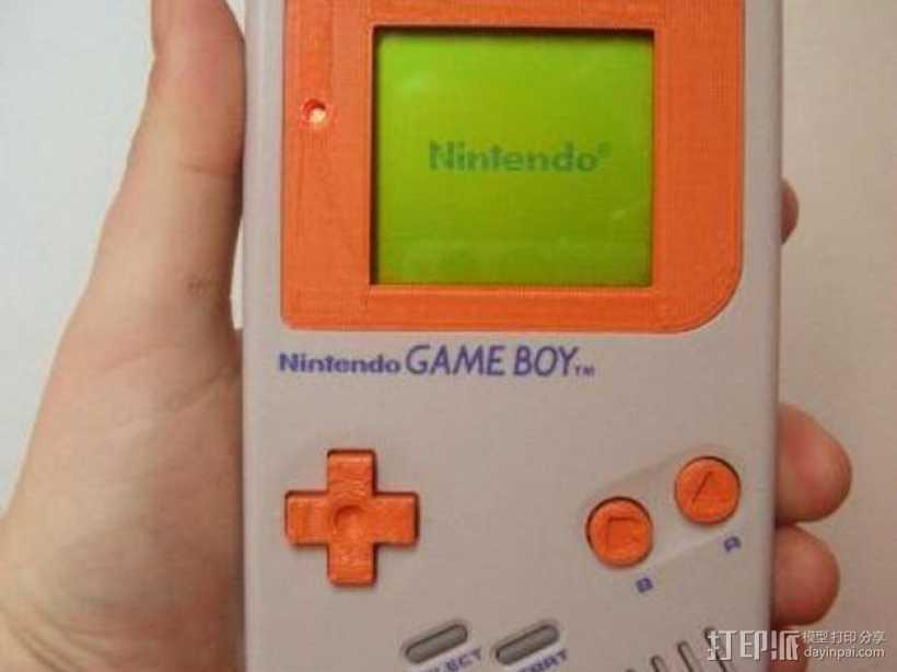 Game Boy掌上游戏机的遮光板和按钮 3D打印模型渲染图