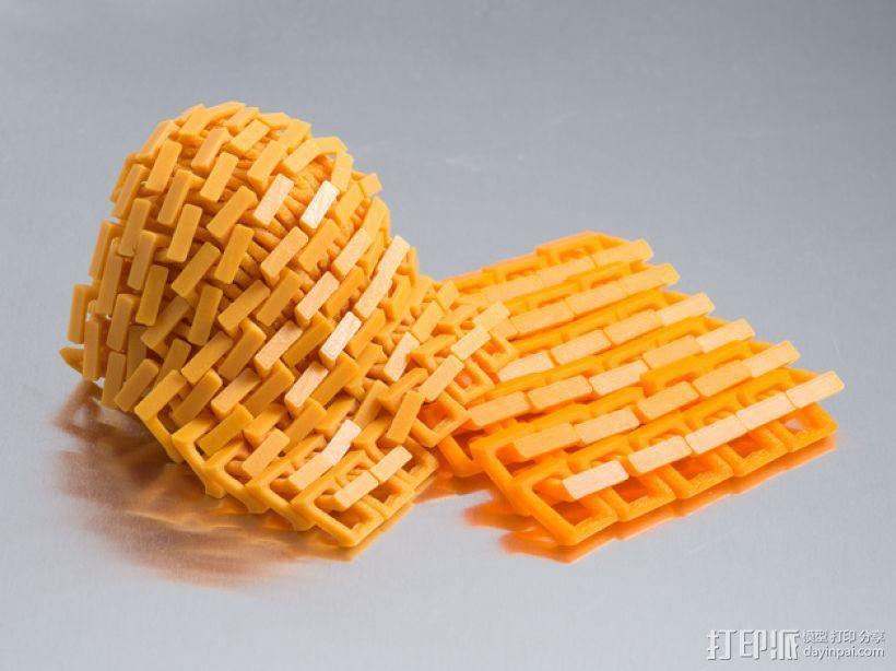 锁子甲 3D打印模型渲染图