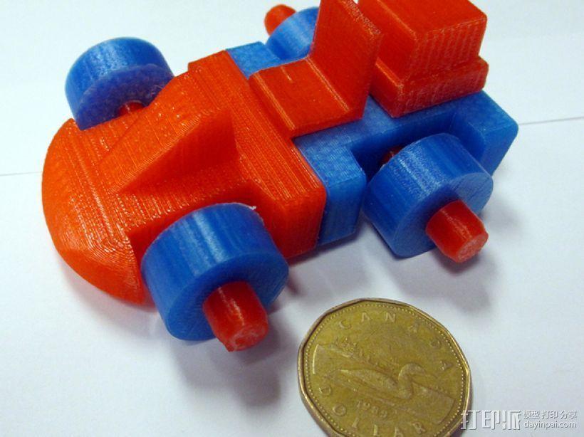 迷你赛车模型 3D打印模型渲染图