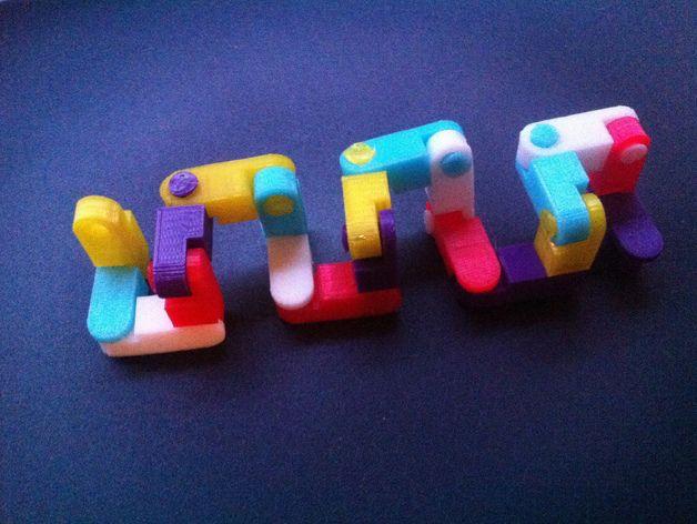 玩具链条 3D打印模型渲染图
