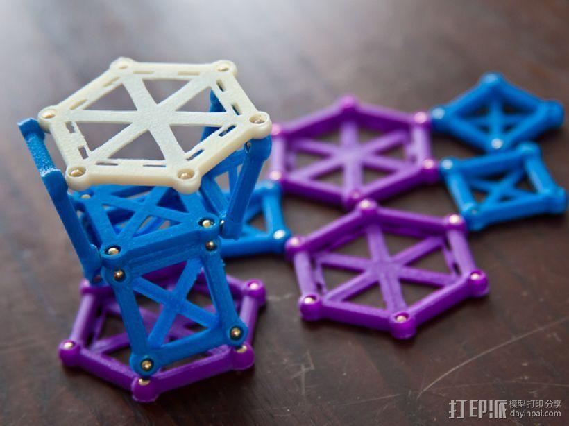 麦格纳结构拼图 3D打印模型渲染图