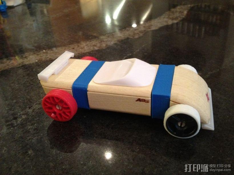 原木拼装车固定架 3D打印模型渲染图