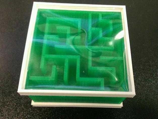 双面迷宫 3D打印模型渲染图