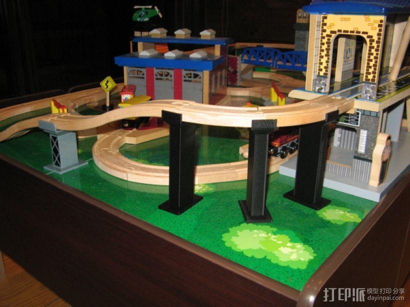 木质火车轨道 3D打印模型渲染图