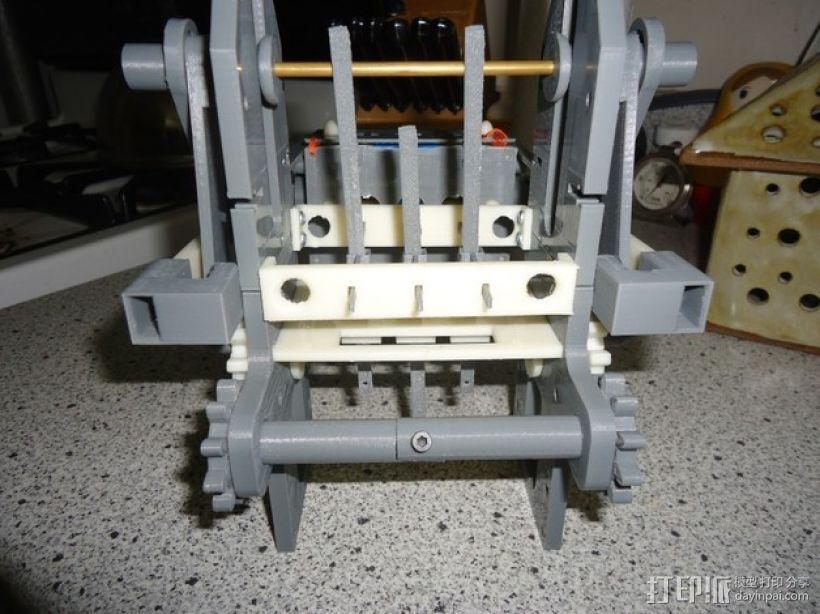 机械式读卡器 3D打印模型渲染图