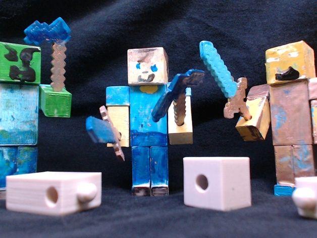 游戏《MineCraft》玩偶 3D打印模型渲染图