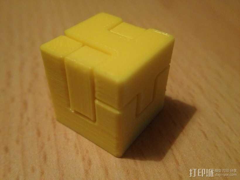 联锁拼图#1 3D打印模型渲染图