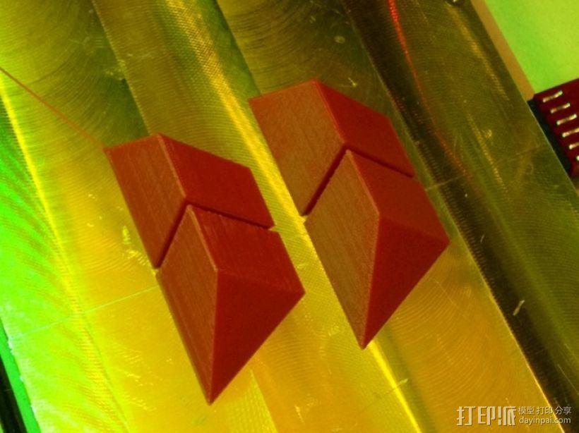 拼装金字塔 3D打印模型渲染图