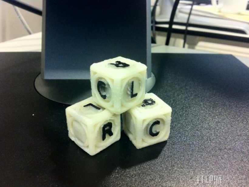 游戏骰子模型 3D打印模型渲染图