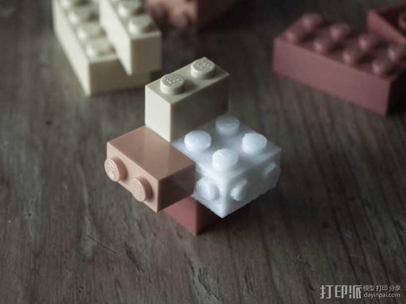 玩具砖块 3D打印模型渲染图