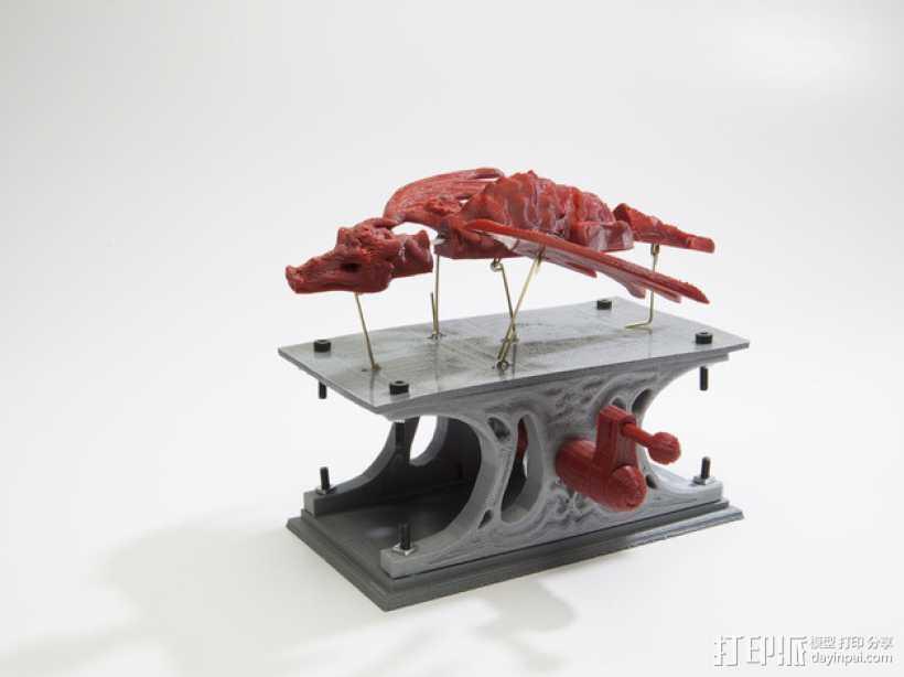 机械龙 3D打印模型渲染图