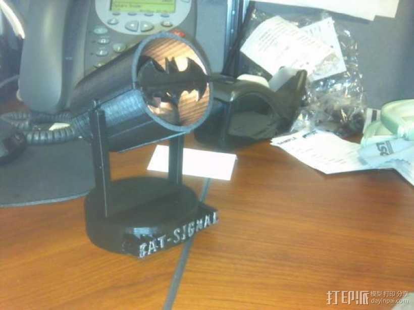 蝙蝠形信号灯 3D打印模型渲染图